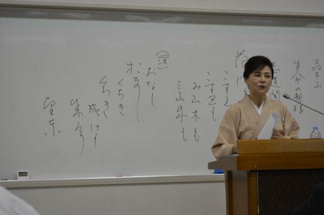 講演中の谷川先生-その1